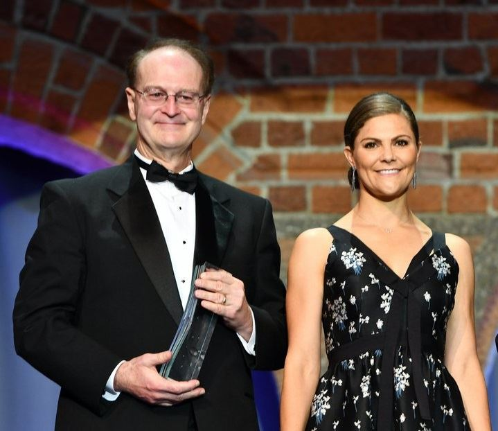 Dr Bruce Rittmann and Princess Victoria of Sweden